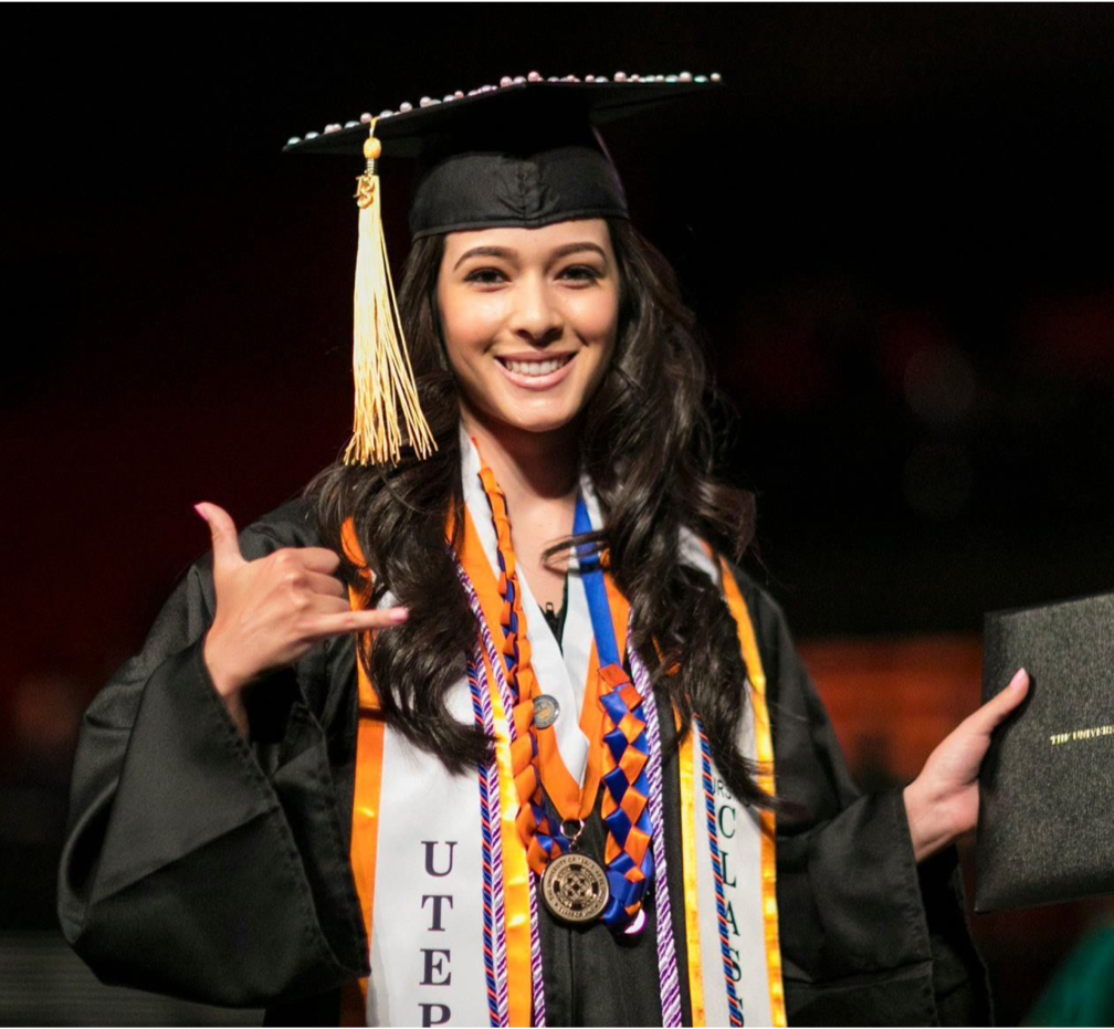 Latino female graduate