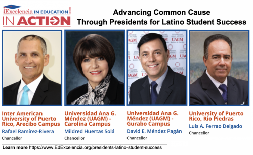 Graphic - Four Puerto Rico Chancellors join with Excelencia in Education