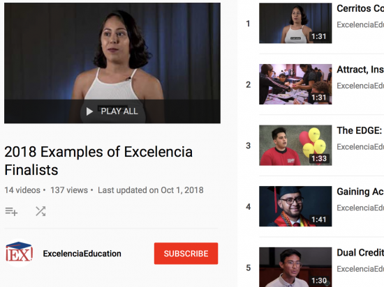Screen Shot - Voices of the 2018 Examples of Excelencia Finalists