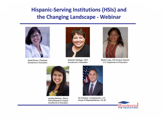 Webinar Image - Hispanic-Serving Institutions (HSIs) and the Changing Landscape